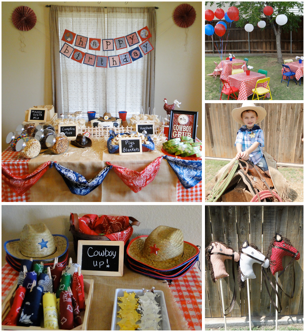 Cowboy Theme Birthday Party