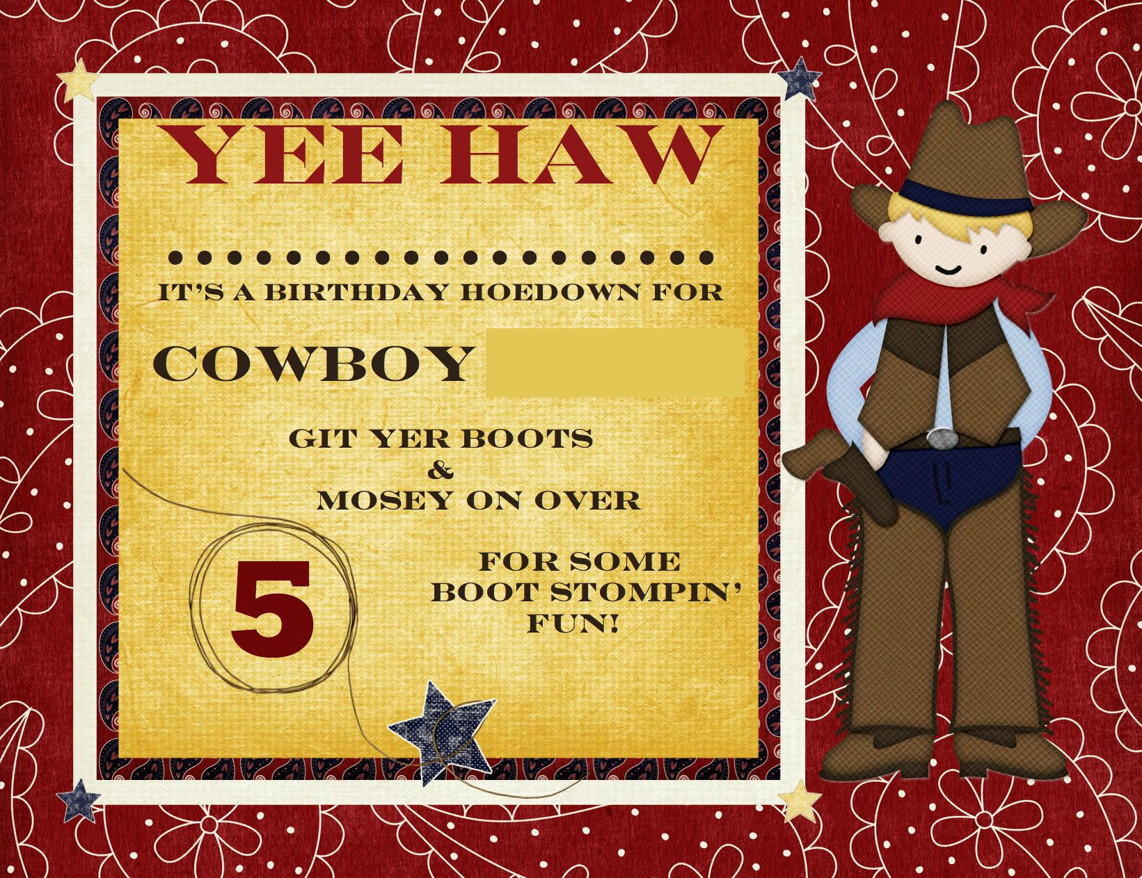 Cowboy Theme Birthday