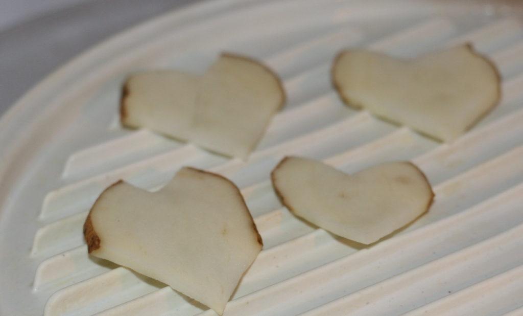 Homemade Heart Shaped Potato Chips