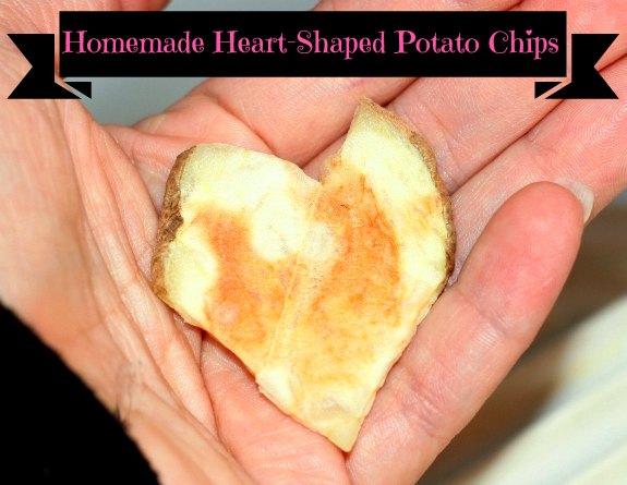 Homemade Heart Potato Chips