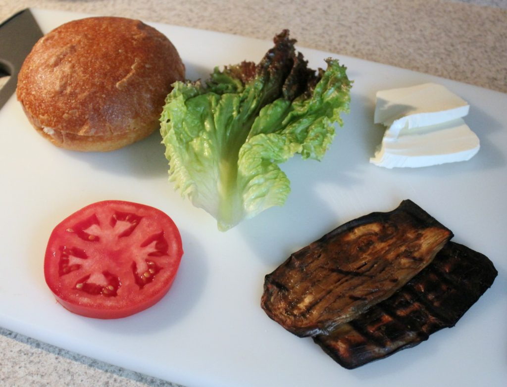 Grilled Eggplant Sandwich Ingredients