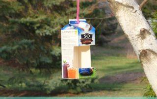 Milk Carton Birdfeeder