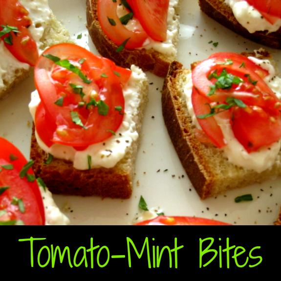 Tomato Mint Bites