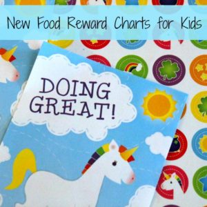 New Foods Reward Charts for Kids