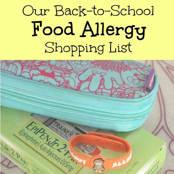 Food Allergy Shopping List