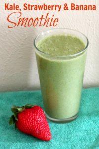 Kale, Strawberry & Banana Smoothie