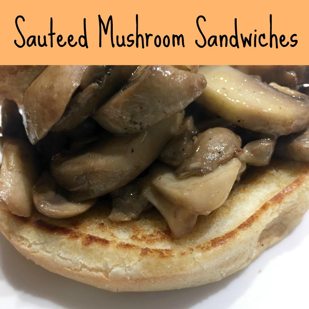 sauteed mushroom sandwiches