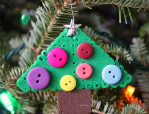 Perler Bead Christmas Tree Ornament