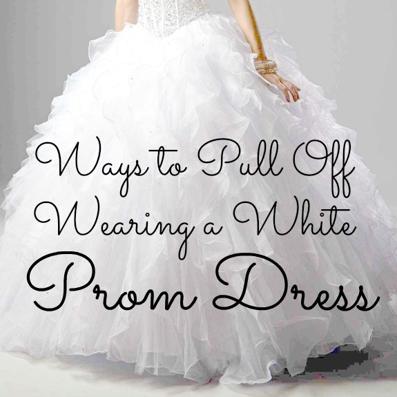 Ways to Pull Off Wearing a White Prom Dress