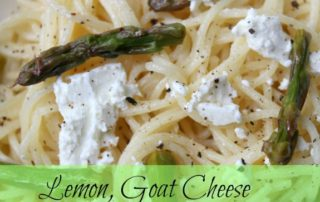 Lemon, Goat Cheese & Asparagus Pasta