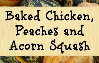 Chicken, Peaches & Acorn Squash