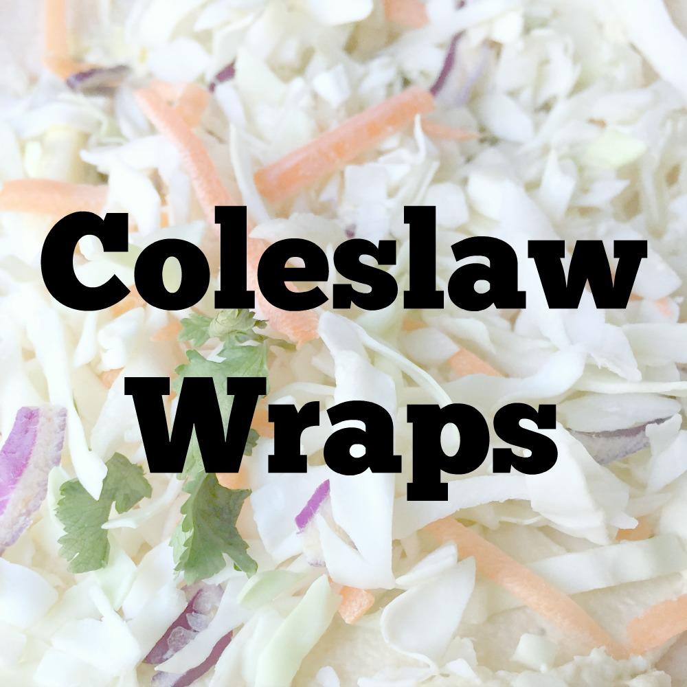 Coleslaw wraps
