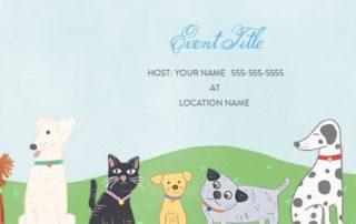 Evite Pet Party