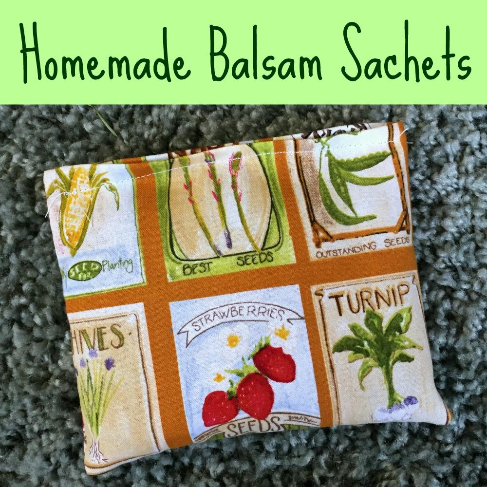 Homemade Balsam Sachets