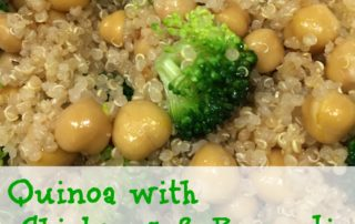 Quinoa with Chickpeas & Broccoli