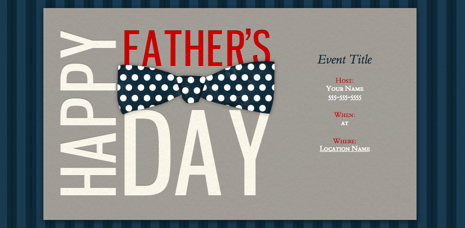 Evite Father's Day