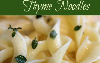 Buttery Thyme Noodles