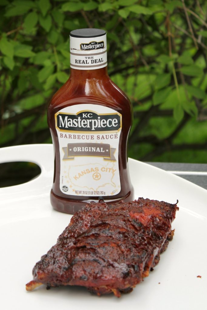 Grilled BBQ ribs