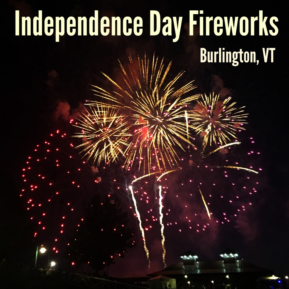 Independence Day Fireworks Burlington Vermont