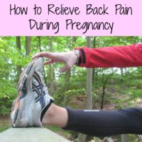 How to Relieve Back Pain During Pregnancy