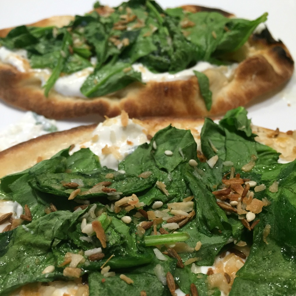 Spinach Naan Flatbread