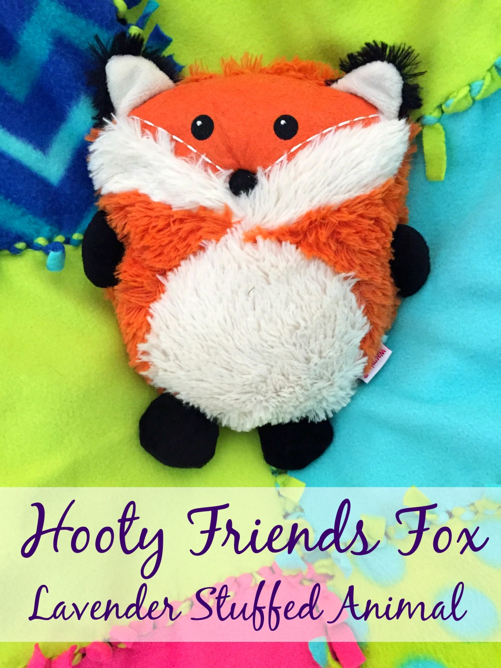 Hooty Friends Fox Lavender Stuffed Animal