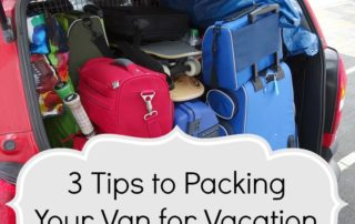 3 Tips to Packing Your Van for Vacation