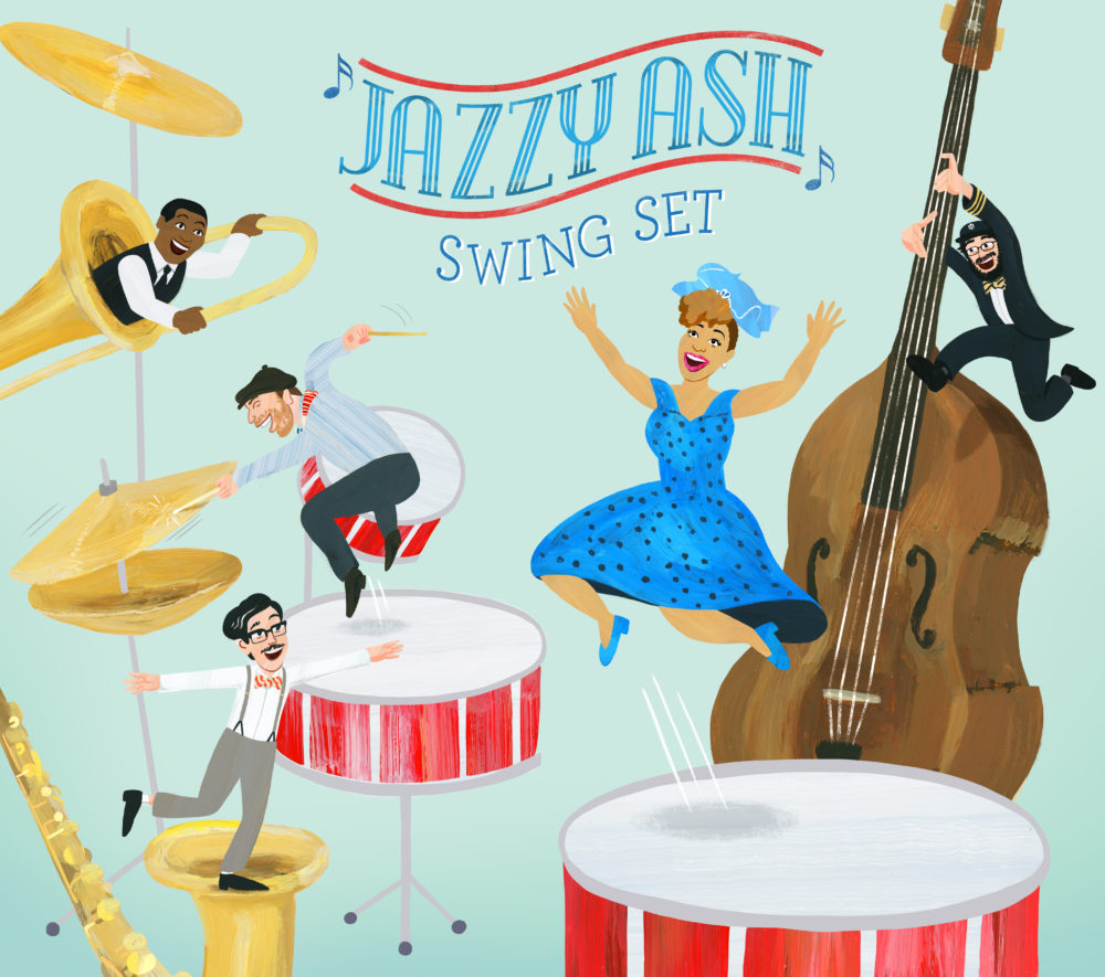 Jazzy Ash Swing Set