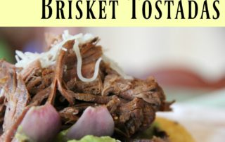 Honey Mustard Brisket Tostadas