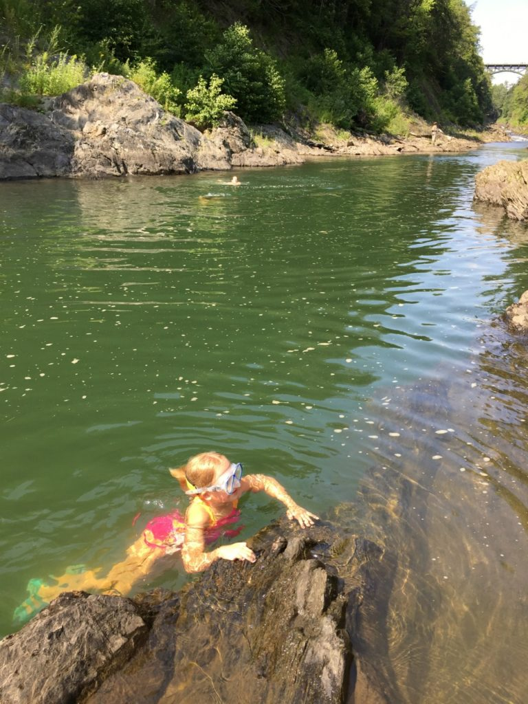 Quechee Gorge Swimming