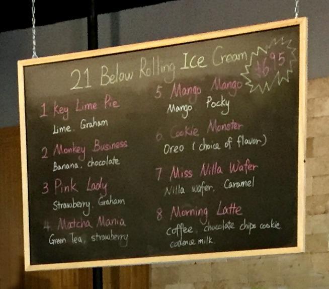 21 Below Thai Rolling Ice Cream