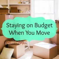 Staying on Budget When You Move