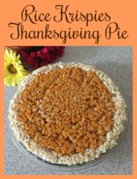 Rice Krispies Thanksgiving Pie
