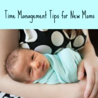 Time Management Tips for New Moms