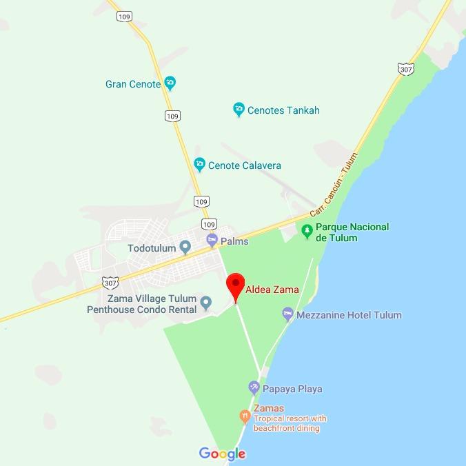 aldea Zama map