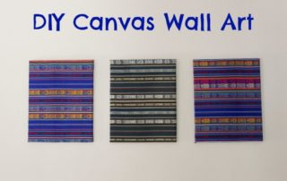 DIY Fabric Canvas Wall Art