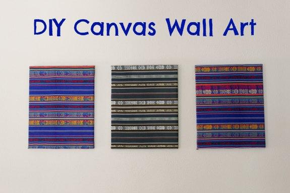 DIY Fabric Canvas Wall Art
