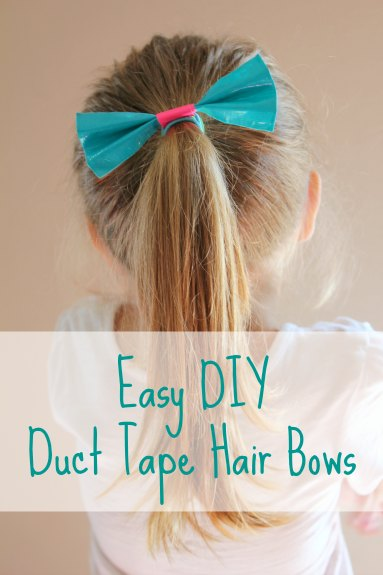 Easy Duct Tape Hair Bows