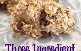 Three Ingredient Banana Cookies