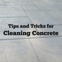 Tips and Tricks for Cleaning Concrete