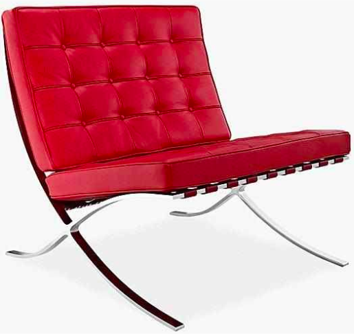 Red Barcelona chair replica