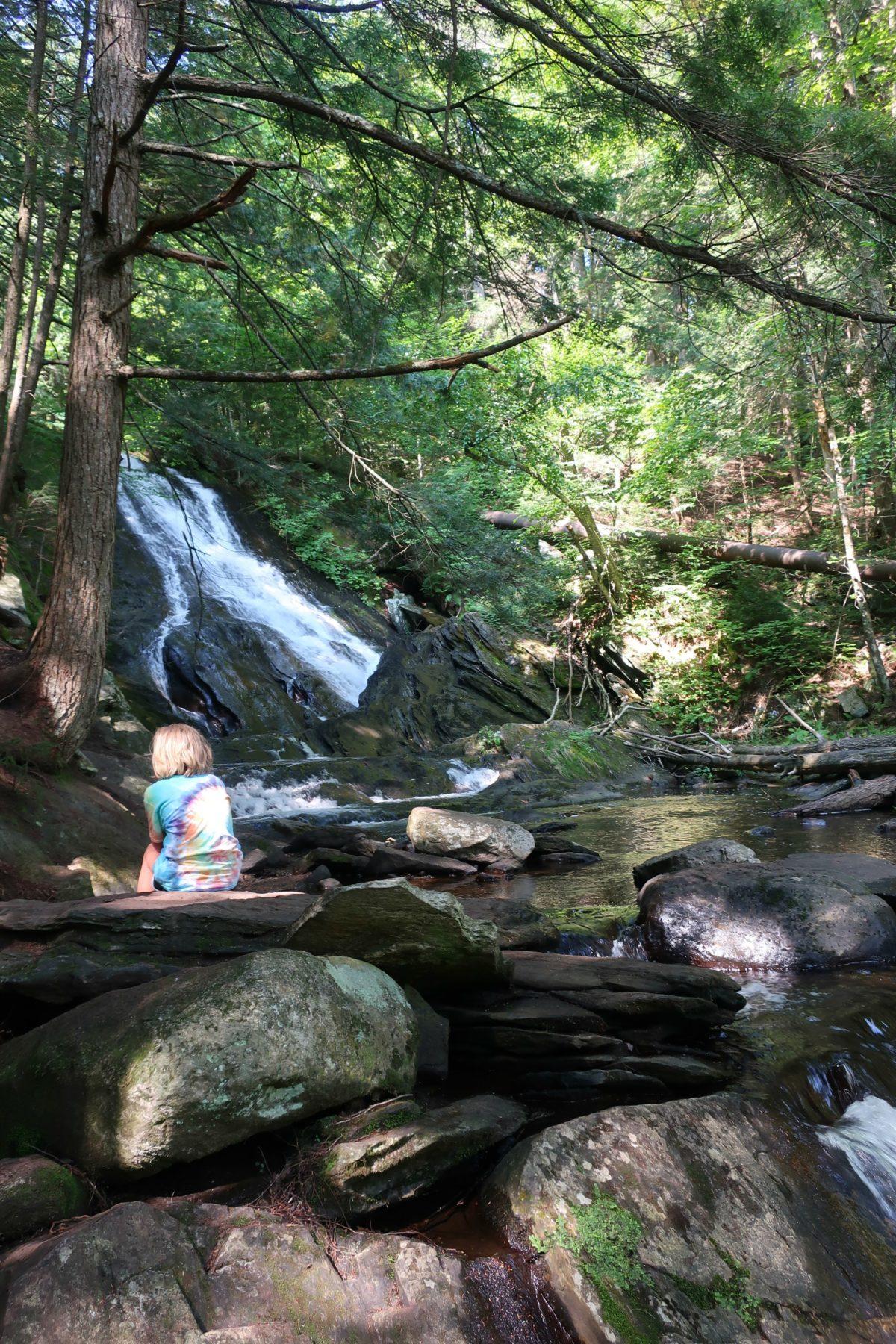 Thundering Brook Falls Waterfall Trail, Killington Vermont