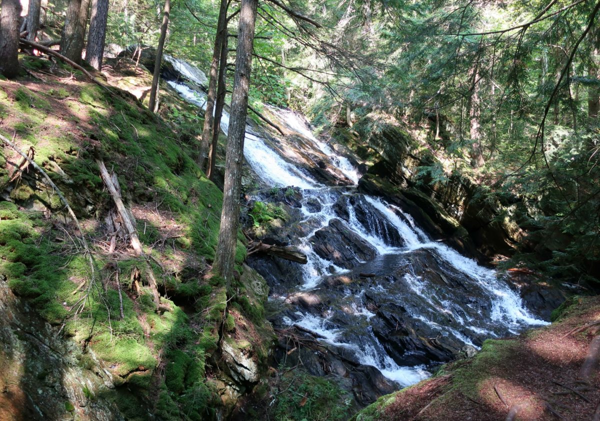 Thundering Brook Falls Waterfall Trail, Killington Vermont