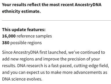 Ancestry DNA reference samples