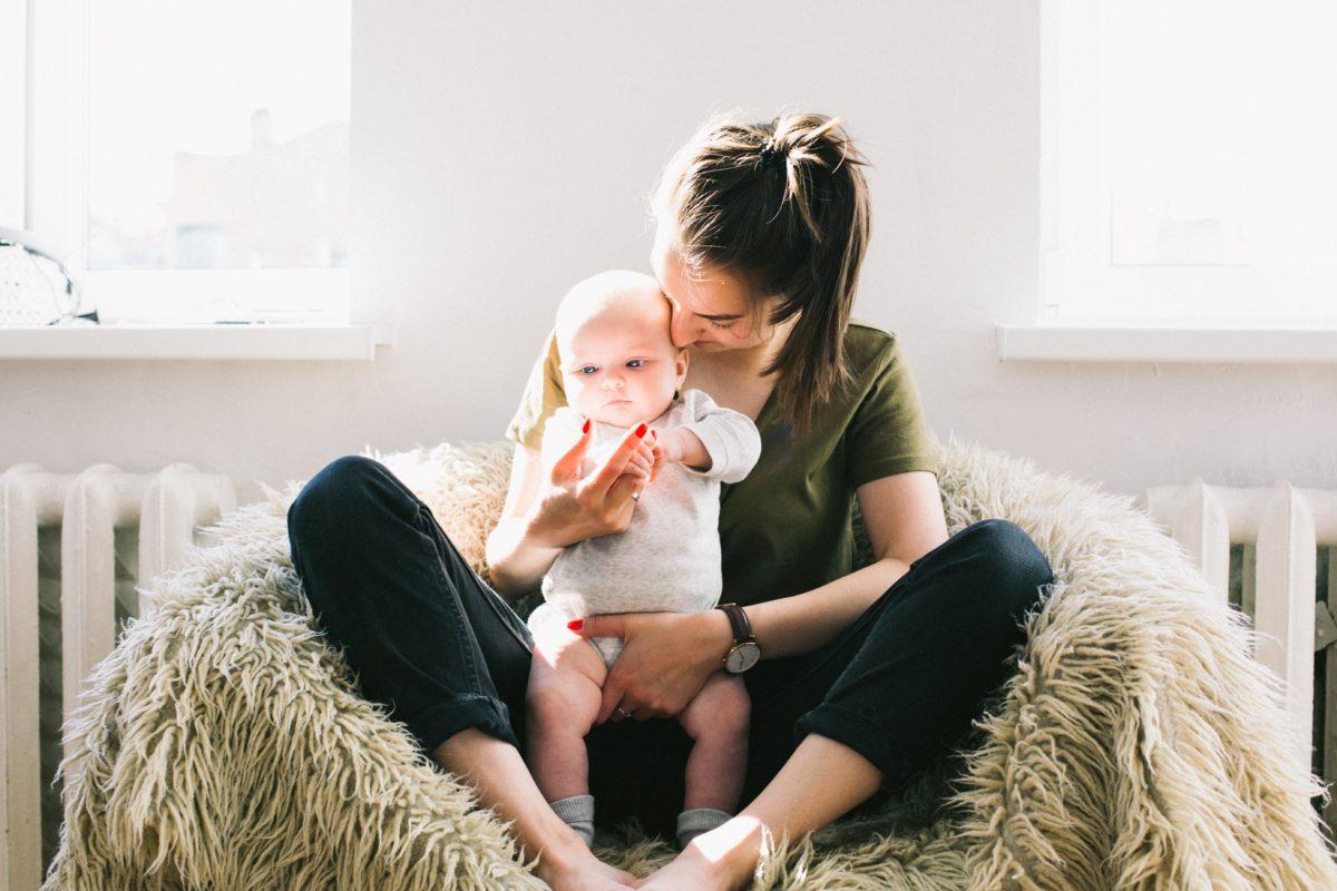 mom child baby