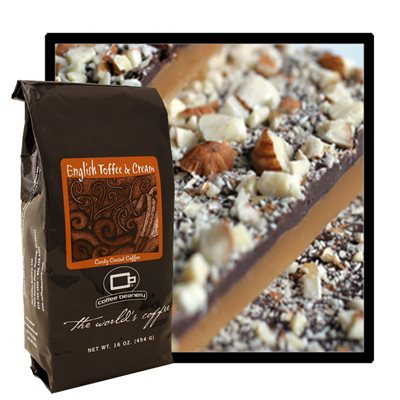 The Coffee Beanery English Toffee and Cream Flavored Coffee