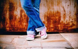 teen feet shoes kid