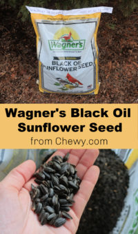 Chewy.com Wagner's Black Oil Sunflower Seed Wild Bird Food