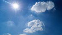 sun clouds heat