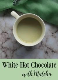 White Hot Chocolate with Matcha